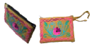 Crewel Embroidered Wallet-3.5x4.5