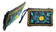 Crewel Embroidered Wallet - 4x6