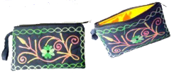 Crewel Embroidered Clutch Bag - OR3B2