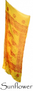 Sarong Scarf - Sunflower Yellow Scarf